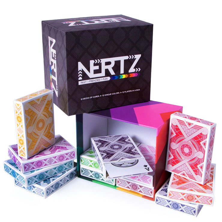 front view of the Nertz: The Fast Frenzied Fun Card Game