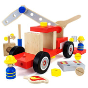 DIY Wooden Fire Engine - stem toys