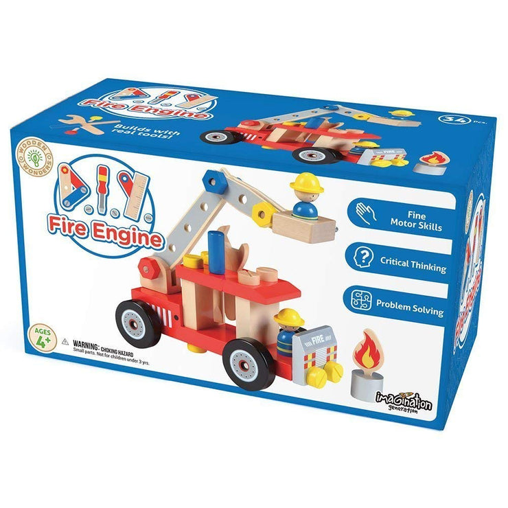 box packaging for DIY Wooden Fire Engine