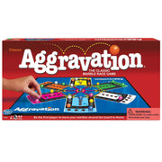 aggravation box packaging against a white background