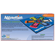 underside of aggravation box packaging