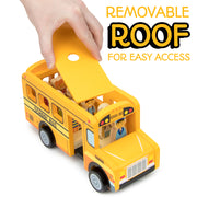 image of a hand removing the roof of the bus for easy access