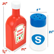image displaying size of ketchup bottle and salt shaker - wood eats