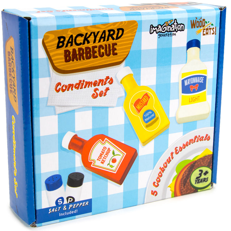 backyard barbecue condiment set box packaging - wood eats