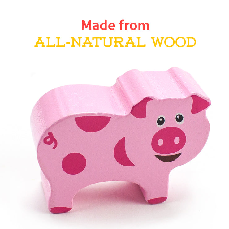 image of a pig with text reading made from all natural wood