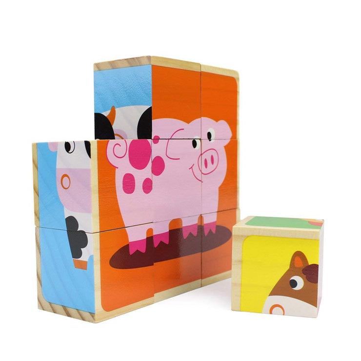 Barnyard Animal Block Puzzles - Stem Toys