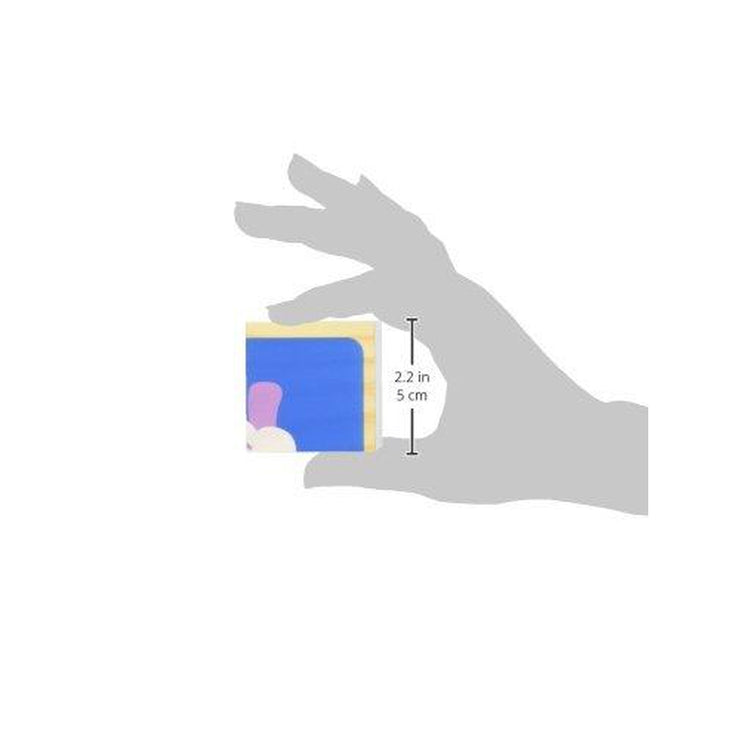 grey hand graphic showing the size of the individual blue puzzle piece fitting into the grasp of the thumb and index finger