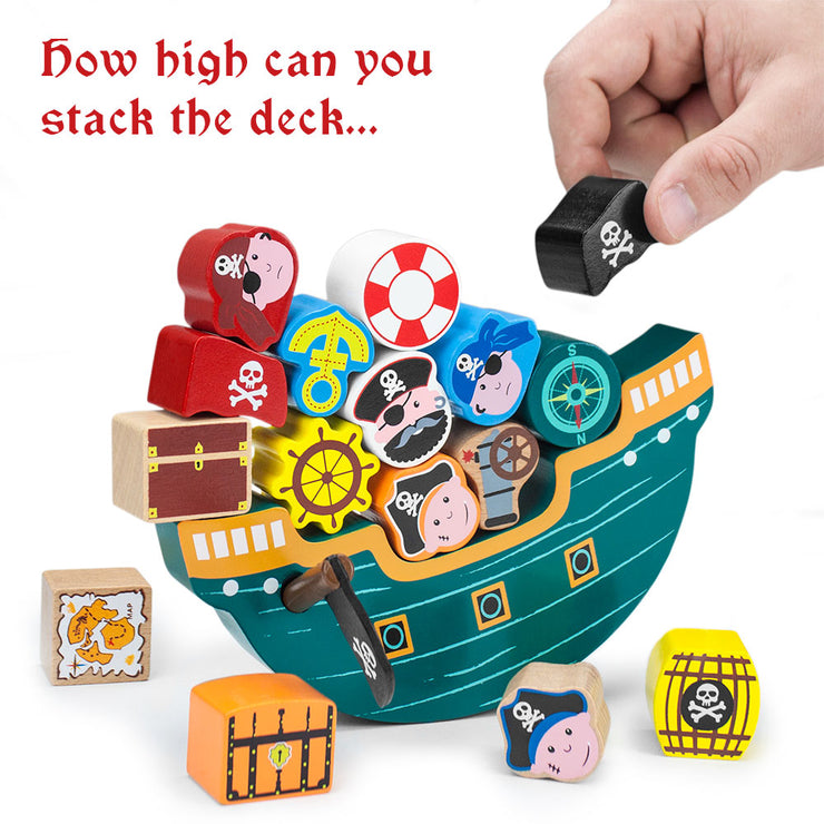 hand stacking on the boat text reads how high can you stack the deck