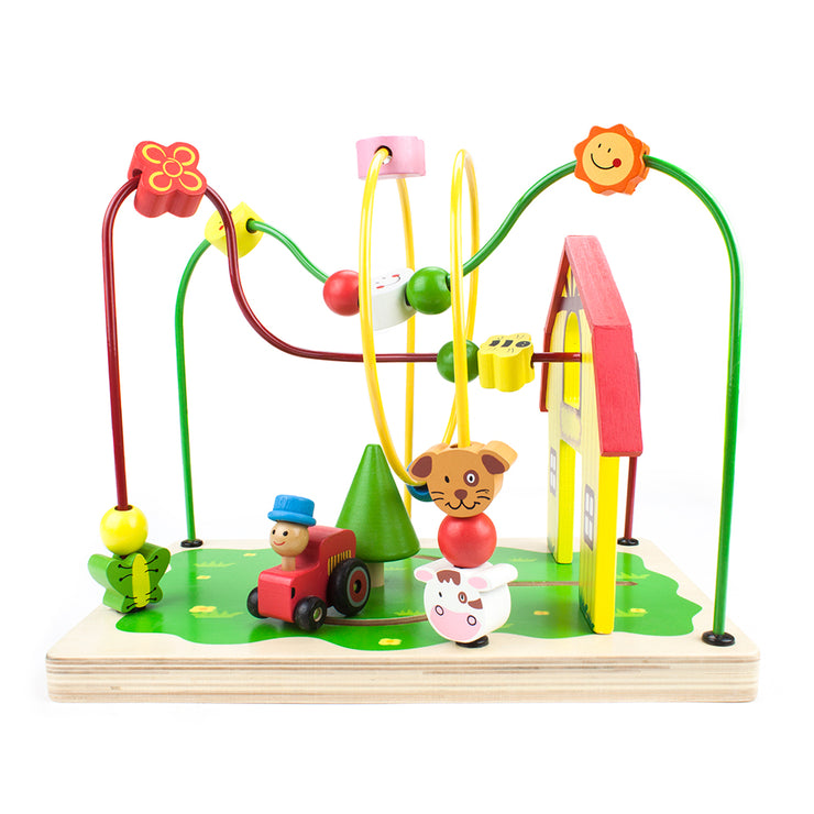 Second View of Busy Barnyard Bead Maze - Stem Toys