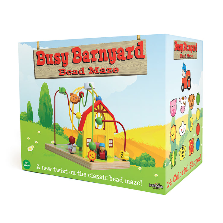 busy barnyard bead maze box packaging - stem toys