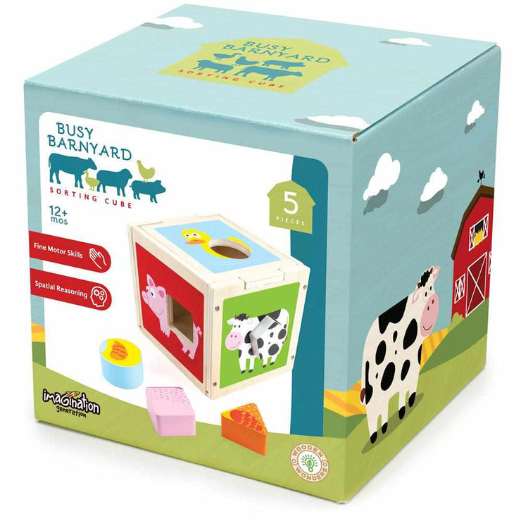 box packaging of the busy barnyard stem sorting cube