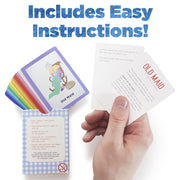 image of a hand holding an instruction card text reads includes easy instructions