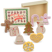 christmas cookies wood eats box and biscuits each displayed separately