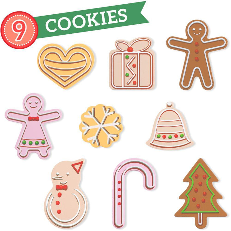 image of wood eats gingerbread cookies facing up text reading nine cookies