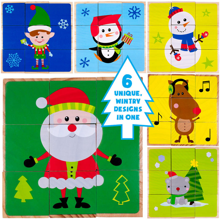 image showing each of the six unique wintry designs