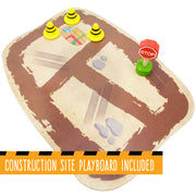 construction site with some road signs text reading construction site playboard included
