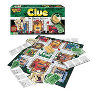 clue board game and box packaging