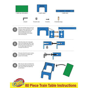 instructions and images on how to construct the table