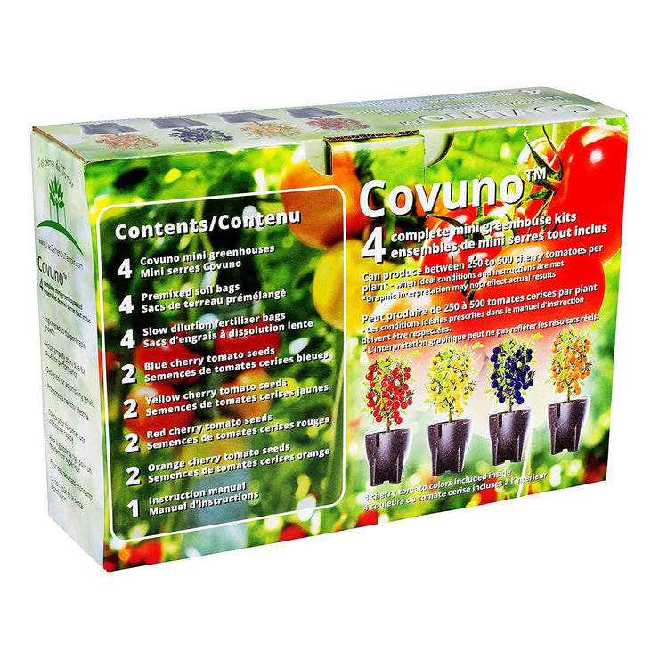 image of the back of the box packaging for covuno greenhouse box kit