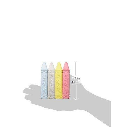 hand holding chalk to display size of four point four inch