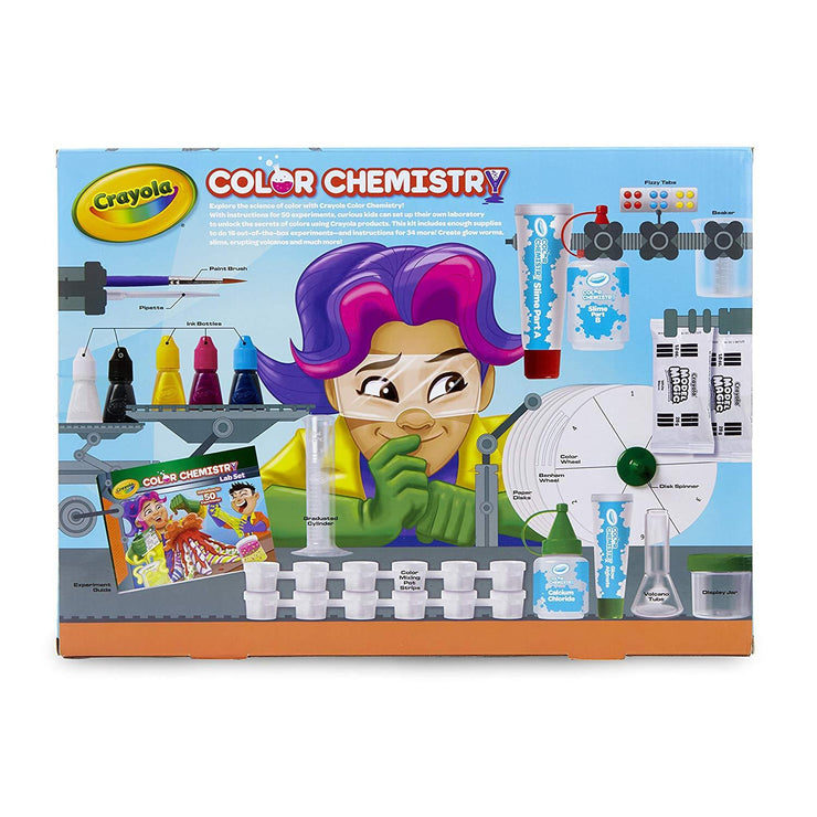 rear view of crayola color lab package