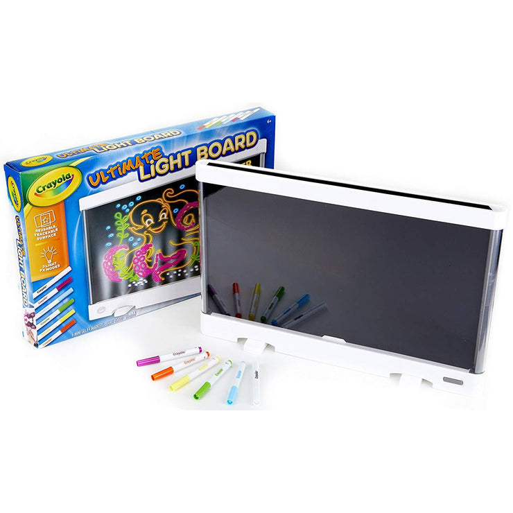 ultimate light board screen six gel FX markers and box packaging