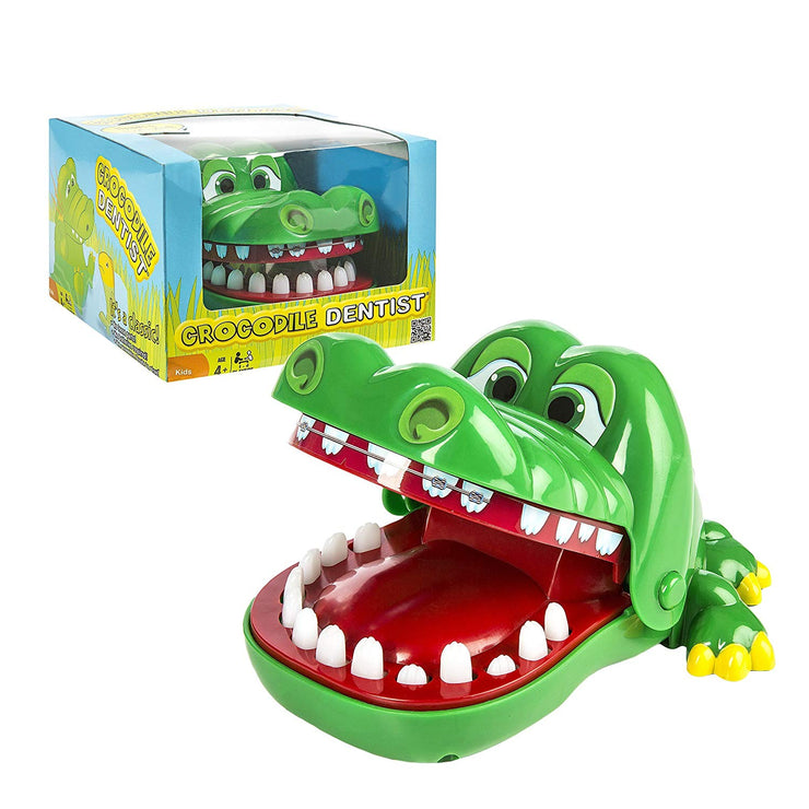 Crocodile Dentist - box packaging and actual crocodile