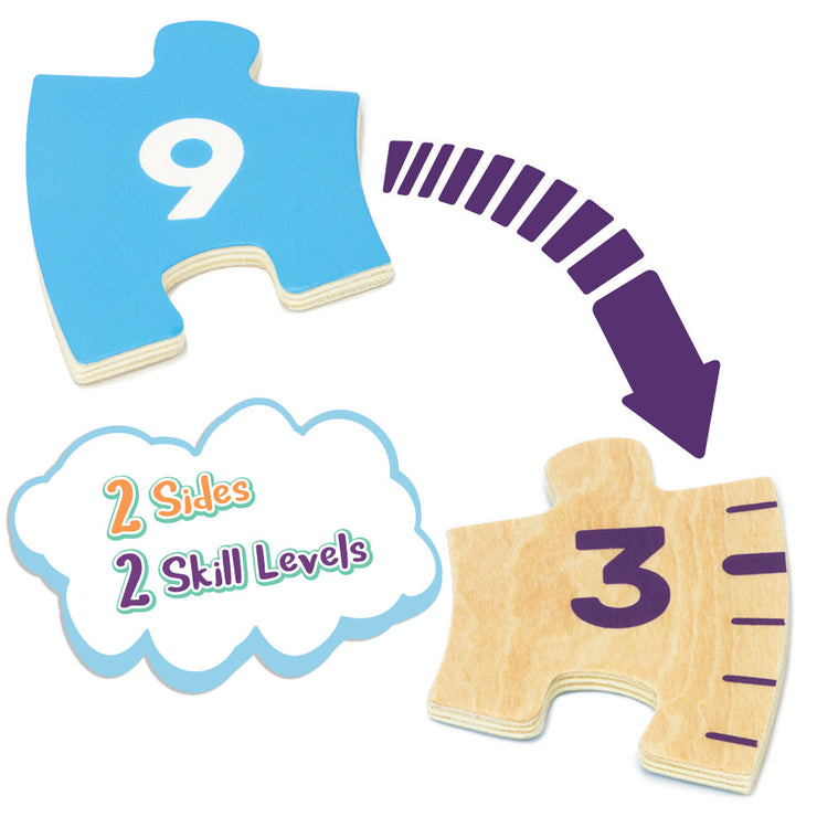 two puzzle pieces from the clock text reads two sides two skill levels