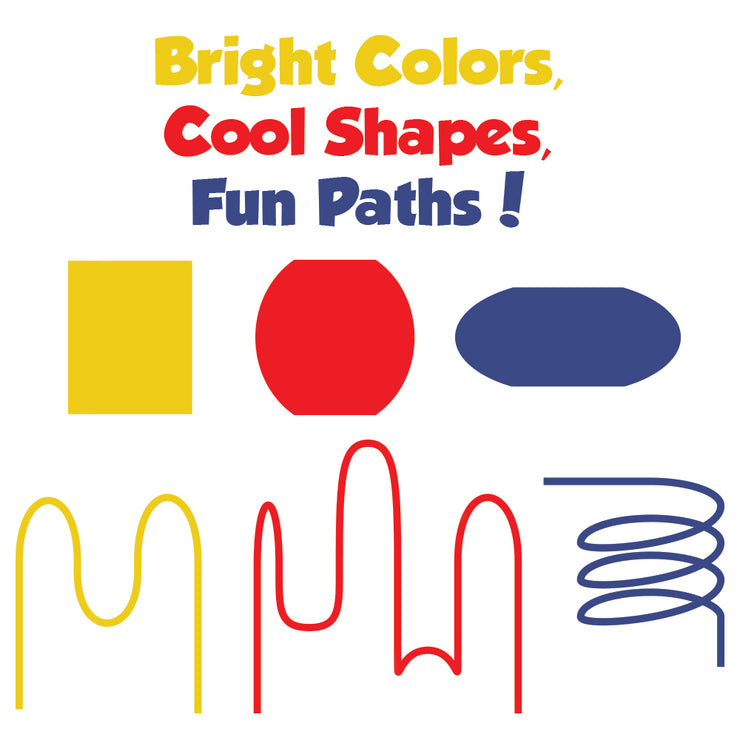 image showing shapes and colors used - yellow red and blue