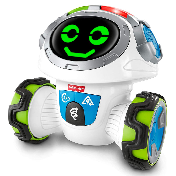 Fisher-Price Think & Learn Teach 'n Tag Movi robot smiling