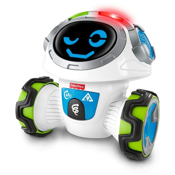 Fisher-Price Think & Learn Teach 'n Tag Movi robot winking