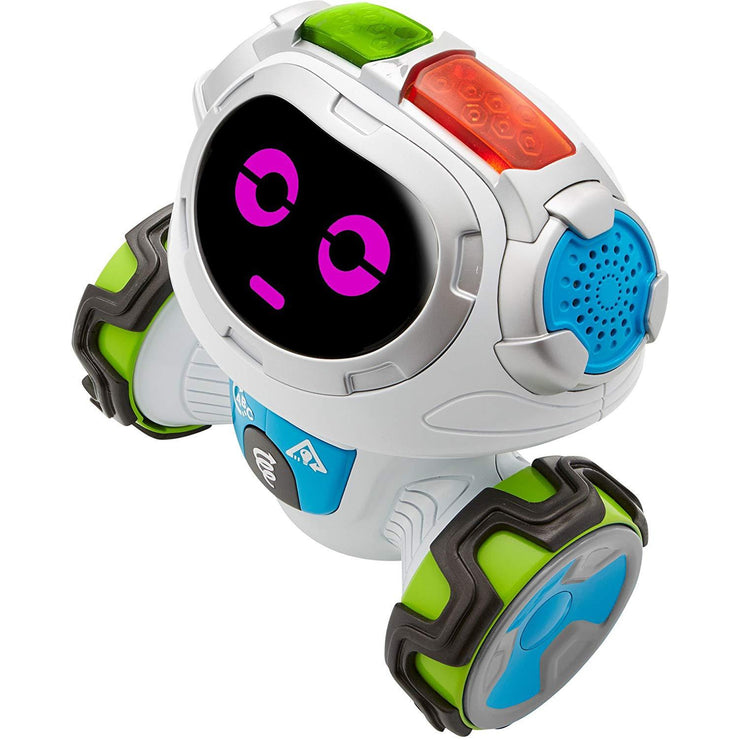 Fisher-Price Think & Learn Teach 'n Tag Movi robot looking serious