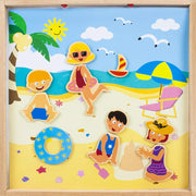 Four Seasons Magnetic Playset - summer scene at the beach