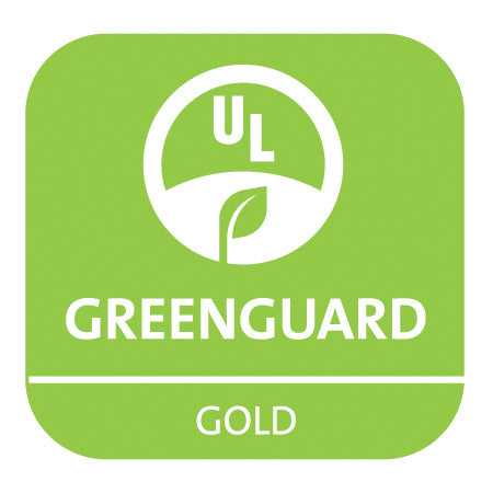 bright green greenguard logo on white