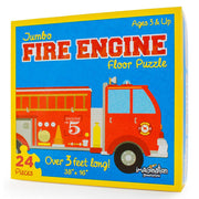stem toy -  fire engine floor puzzle box packaging