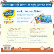 reverse side of the Let's Go Fishing! Game with two game instructions