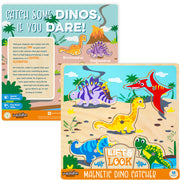 front and reverse side of the Lift & Look Magnetic Dino Catcher packaging