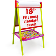 image of a easels text reads 18 inch fits most standard easels