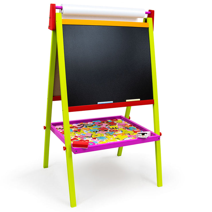 Little Artists 3-in-1 Standing Easel displaying the chalkboard