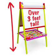 colorful easel displayed text reads over three feet tall