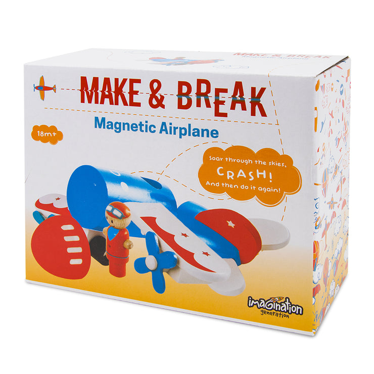 box packaging for the Make & Break Magnetic Airplane