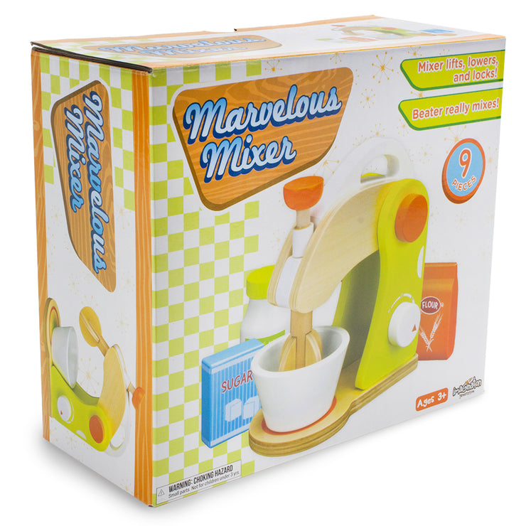 wood eats marvelous mixer box packaging against a white background