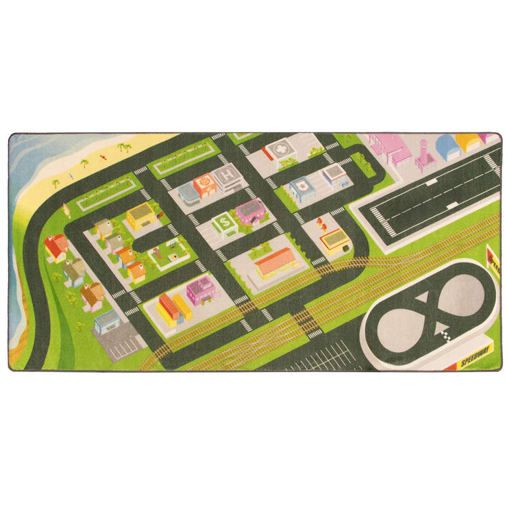 top view of the Mini Metropolis City Play Rug