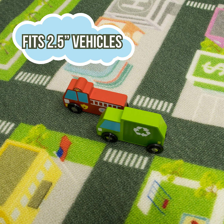graphic depiction of the Mini Metropolis City Play Rug