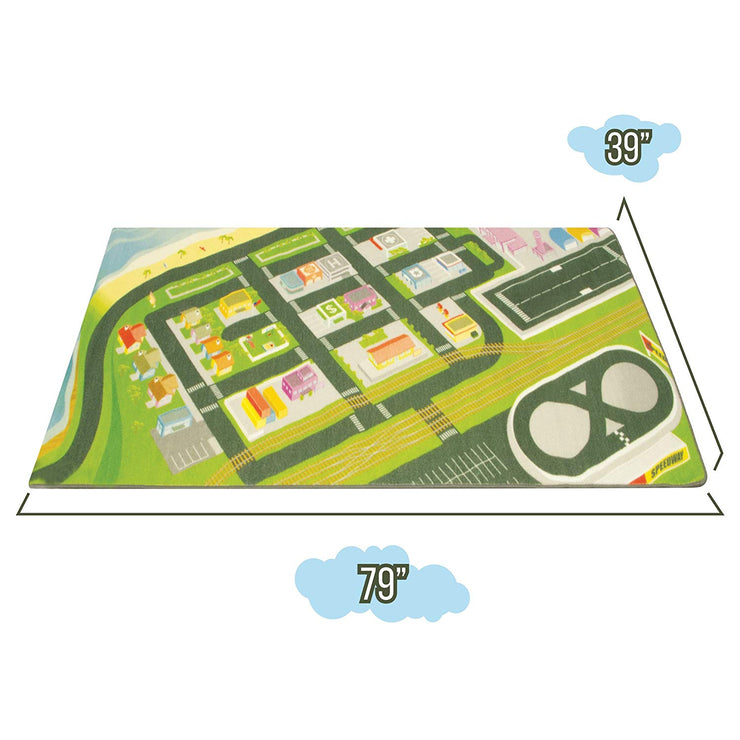 isometric view of the Mini Metropolis City Play Rug