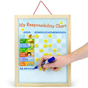 hand adjusting the My Responsibility Chart