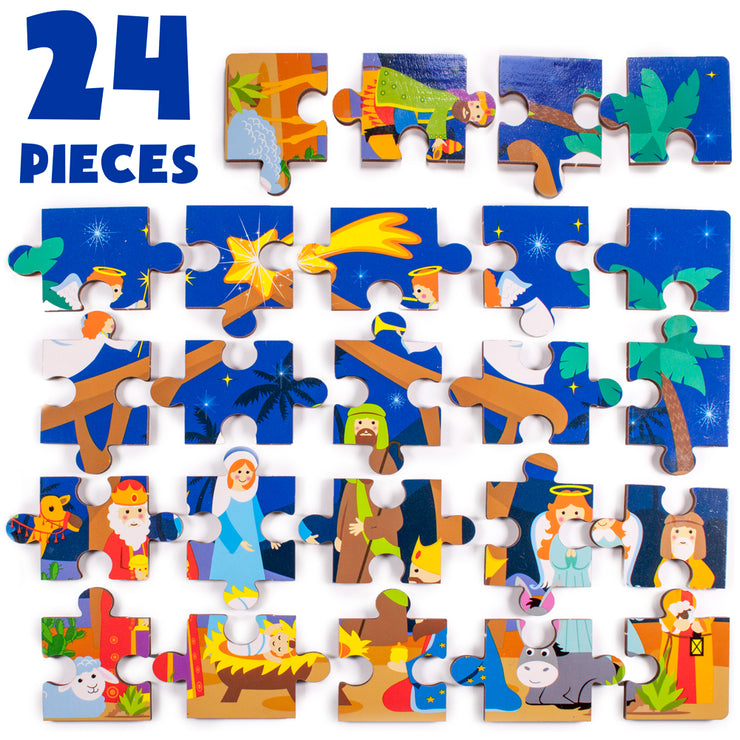 components layout of the Nativity Puzzle