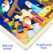 close up of the supreme quality of the Nativity Puzzle