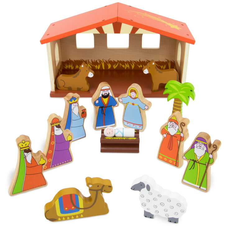 full view of all part to the Nativity Set For Kids