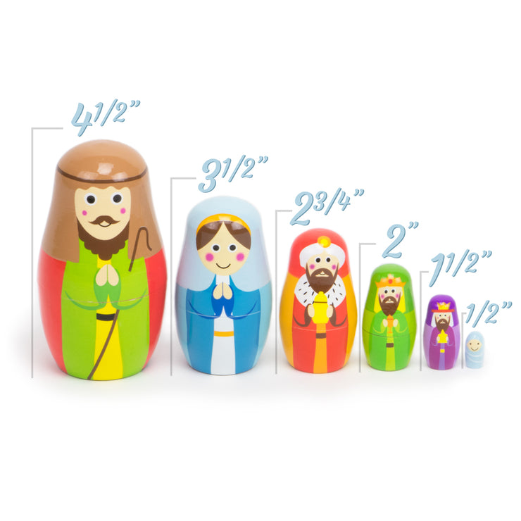 names characters for the Nesting Nativity - Wooden Set